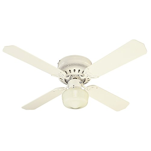 ace ceiling fans Westinghouse Lighting 7812600 Traditional Casanova Supreme 1-Light 4-Blade Indoor Ceiling Fan with Opal Schoolhouse Glass, 42