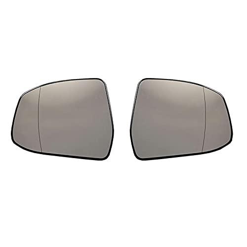 JHSOP Lente de cristal del espejo retrovisor calefactado del ala lateral de la puerta delantera para Ford Focus para Ford Mondeo 2008-2018