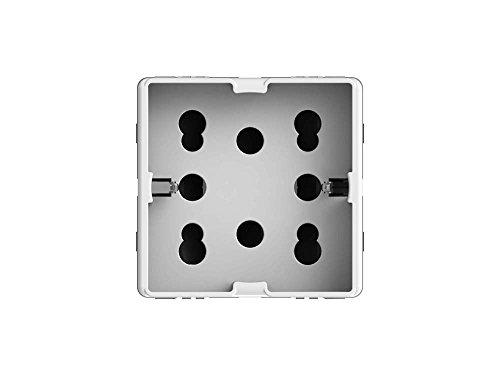 4Box 4B.G20.H21, Side, Presa da Incasso Multistandard 1 Schuko + 2 Bipasso, Compatibile con Gewiss System, 250 V, Bianca