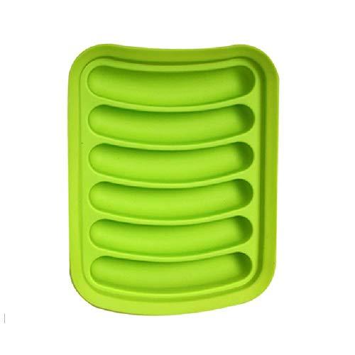 Obstkorb DIY Wurstbackform Silikon Schinken Hot Dog Form Küche Backwerkzeug für Dampfgarer Topf Backofen Mikrowelle Kühlschrank Blau grün
