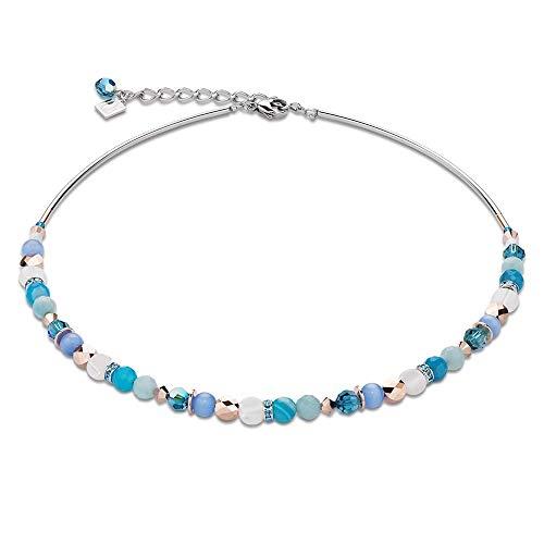 Coeur de Lion Halskette Türkis/Blau ~ 4914/10-607