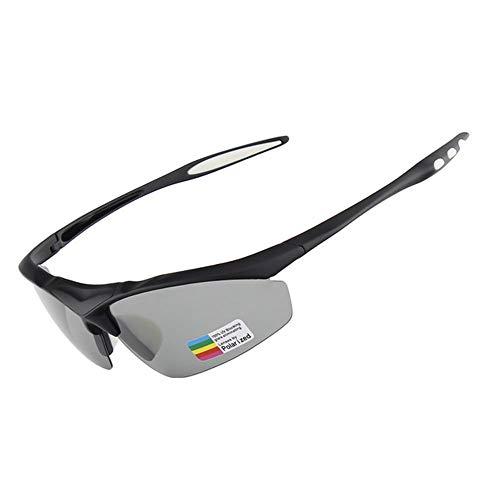 HAOQI Pesca Ciclismo Gafas De Sol,Moda Viajes Protección UV Vintage Gafas,Aire Libre Deportes Deportivas Beisbol Gafas,para Los Hombres Mujere Gafas-Negro 15.5x4.2cm(6x2inch)