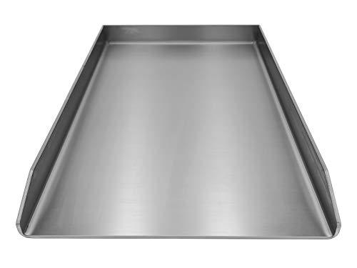 Kette´s Grillzubehör Edelstahl Plancha/Grillplatte/Bratplatte/Burger Platte/BBQ-Platte in diversen Größen (450 x 420mm für Rösle)