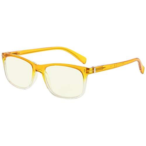 Eyekepper gafas de lectura de la moda con la protección UV, lectores anti-reflectantes para la computadora,Amarillo Tinted Lenses (Amarillo, 2.50)