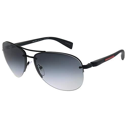 Prada LINEA ROSSA PS 56MS Gafas de Sol, Black Rubber, 62 para Hombre
