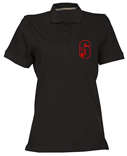 T-Shirtshock Polo fur Frau Schwarz FUN1092 Cricket Umpire 6 Mens CU