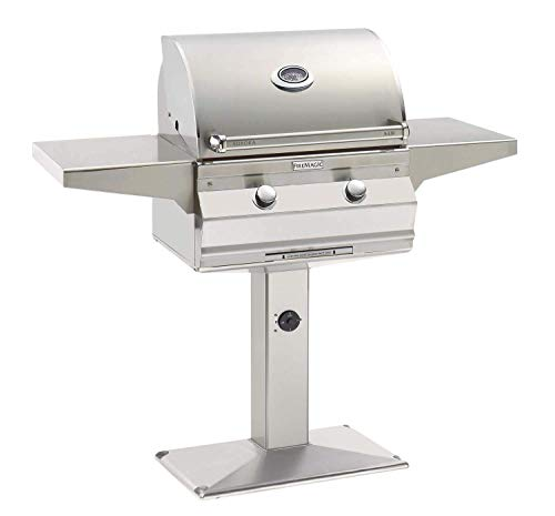 Fire Magic Aurora Series 24-Inch Grill On Bolt Down Post (A430s-5LAN-P6), One Infrared Burner, Analog Thermometer, Natural Gas
