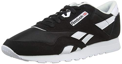 Reebok Herren Classic Nylon Low-Top, Schwarz (Black/White), 44 EU