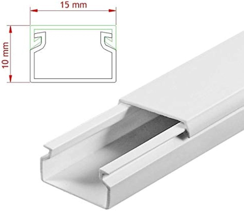 StilBest® 50m Kabelkanal [L x B x H 200x1,5x1,0 cm, PVC, Schraubbar, weiß] Kabeldurchführungssystem   Kabelleiste   Kabelschlauch   Kabelrohr B07PMSS69G | Mittlere Kosten