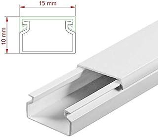 StilBest® 80m Kabelkanal [L x B x H 200x1,5x1,0 cm, PVC, Schraubbar, weiß] Kabeldurchführungssystem   Kabelleiste   Kabelschlauch   Kabelrohr B07PMSRVRX  Rechtzeitige Aktualisierung