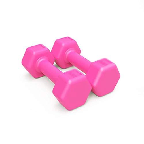 LXX Hanteln Hantel Luxus Handgewicht, Rundum-Farbkodierung -Hanteln for Privatanwender Krafttraining Gewichte sind optional Gebraucht Kurzhanteln (Color : Pink 3kg (1.5kgx2))
