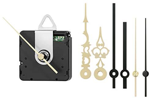 SELVA Funkuhrwerk – ZWL 11,8 mm – Inkl. Einbauzubehör und ZEIGERSET – Ideal für Uhren-Selbermacher - 344863