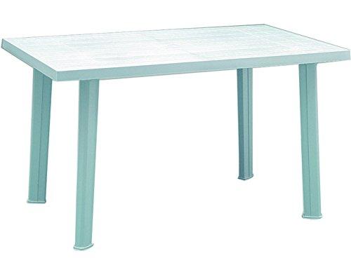 Progarden 9694350 VELO - Tavolo conponibile rettangolare, Polipropilene, Bianco, 126 x 76 x 72 cm