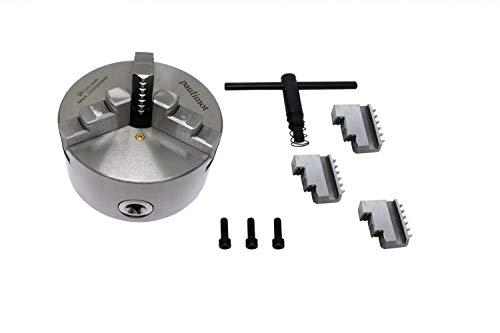 PAULIMOT Dreibackenfutter für Drehbank, 125 mm mit 3-Loch-Aufnahme