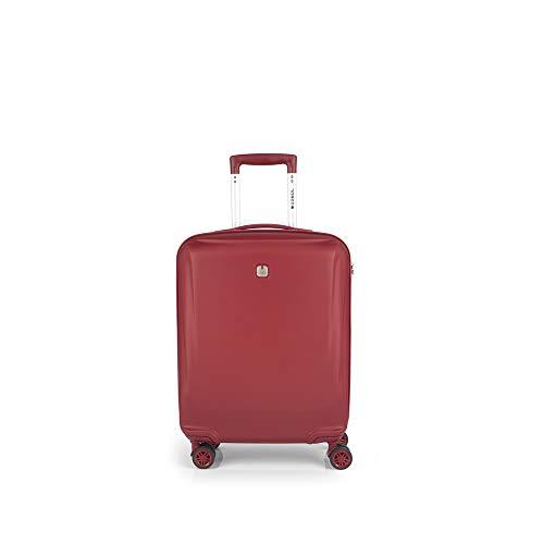 Gabol - Vermont | Maleta de Cabina con Cargador Rigida de 40 x 55 x 20 cm con Capacidad para 33 L de Color Rojo