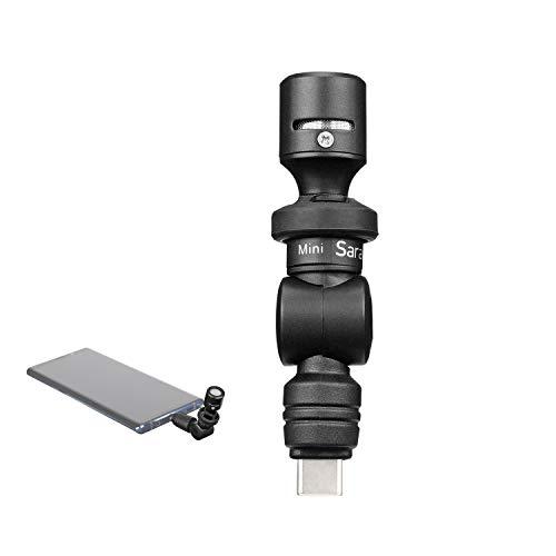 Micrófono USB-C, Saramonic SmartMic UC Mini Condensador Micrófono flexible Micrófono Plug & Play Compatible con iPad Pro, Samsung Galaxy, LG, HTC Google y otros dispositivos de tipo USB-C