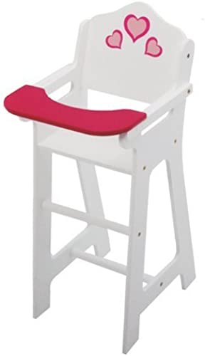 descuento online The New York Doll Doll Doll Collection Wooden Doll High Chair with Doll Bib Fits 18  by The New York Doll Collection  ventas en línea de venta