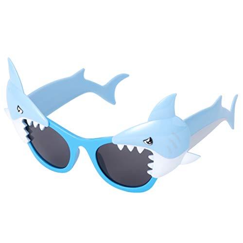 PRETYZOOM 2 gafas de sol con diseño de tiburón para fiestas, para decoración de fiestas (tiburón)