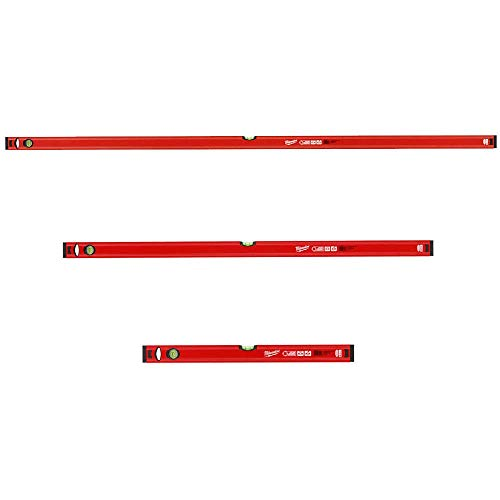 Milwaukee waterpas-set 3-delig 180 cm + 120 cm + 60 cm