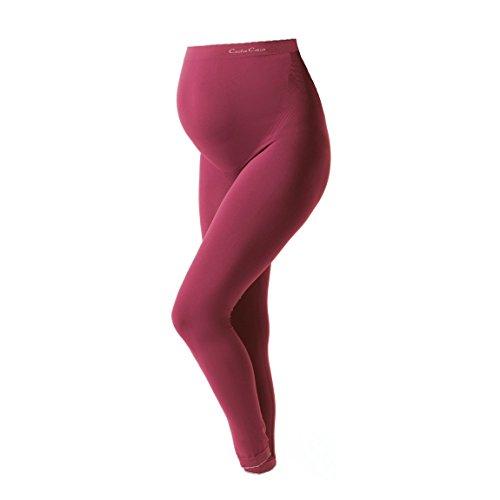 Cache Coeur Schwangerschafts- Überbauch Leggings Illusion Seamless LG1210 Größe L-XL, Farbe Cassis