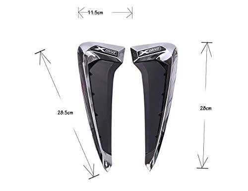 Garniture de Fender de décoration de côté de Requin de Fibre de Carbone de Xdrive d'ABS pour X5 F15 X5M F85 14-17-argent Blanc