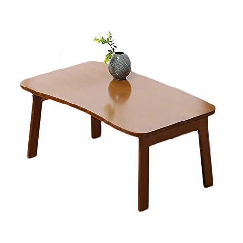 JIAHE115 klaptafel eenvoudige tafel HJCA – draagbare klaptafel voor laptop met vier poten van bamboe, multifunctioneel, bruin 70 x 42 x 31 cm