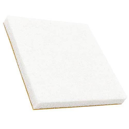 32 x almohadillas de fieltro | 50x50 mm | blanco | quadrati | Patas de muebles adhesiva de la máxima calidad (5.5 mm) de Adsamm®