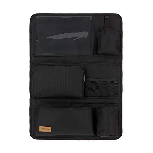 LÄSSIG Autoorganizer Autorücksitzorganizer Rücksitztasche für Auto zum Hängen zusammenklappbar 55 cm/Car Wrap-to-Go Black Edition