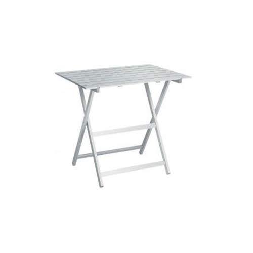 Liberoshopping Table pliante en bois, finition blanche, pliable, 60 x 77 cm, pour maison, jardin, camping