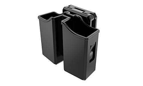 KNTAC Universal Double Magazine Pouch,9mm .40 Double Stack Mag.Fit:Beretta Browning BUL CZ Glock H&K HS Springfield Kel-Tec Ruger Sig Sauer S&W Taurus Walther,Double Stack Pistol Mags