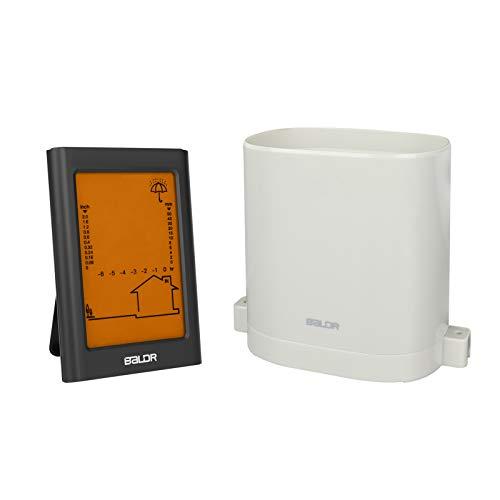 Jhua Wireless Rain Gauge with Thermometer Indoor Outdoor