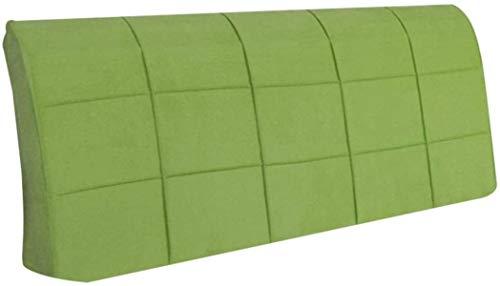 OYY Manufacture Cojines Almohada de la Cama a la Cubierta de cabecera con Cama Suave Suave Almohadilla Lumbar Almohadilla Lumbar Lavable, 5 Colores (Color : Green, Size : 210x8x58cm)