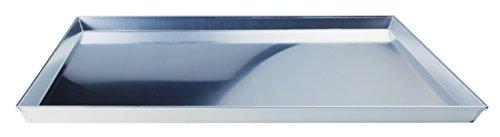Pentole Agnelli COAL49/345 Poêle Basse Rectangulaire, Aluminium, Gris, 45 x 35 cm