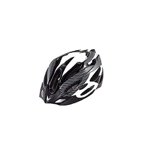 NaiCasy Mountainbike Helm leichte Bequeme BMX MTB Fahrradhelm Außenschutzhelm Cap für Outdoor Sport Freier Größe (Schwarzweiß)