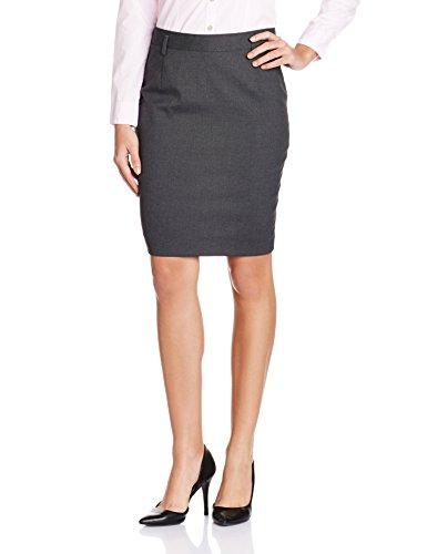 Arrow Woman Body Con Skirt (ARRW12002_Dark Grey_32_8907259801483)