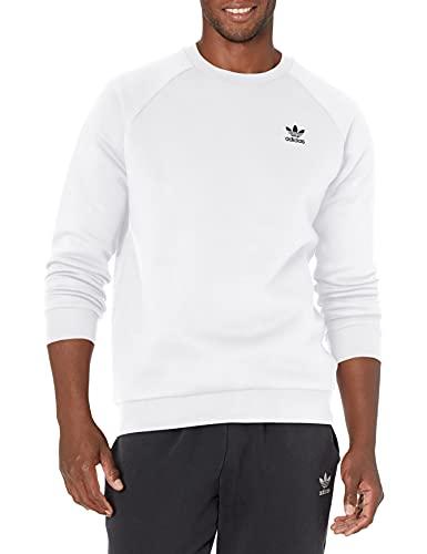 adidas Originals Men's Adicolor Essentials Trefoil Crewneck Sweatshirt, White, Medium