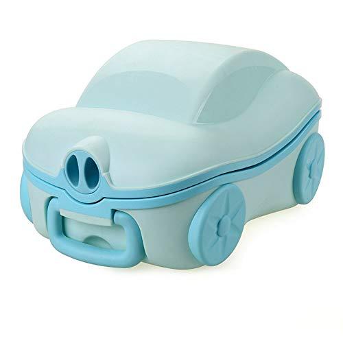 HKANG WC per Bambini Toilette di Viaggio Riutilizzabile Portatile Removibile Facile da Pulire,Blue