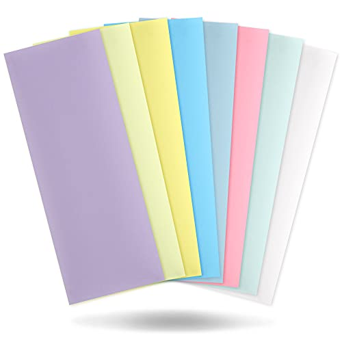 Lapping Microfinishing Film With PSA - Set of 8 Polishing Sheets 4.25'' x 11'' for Scary Sharp Sharpening System - AO Aluminum Oxide With Pressure Sensitive Adhesive