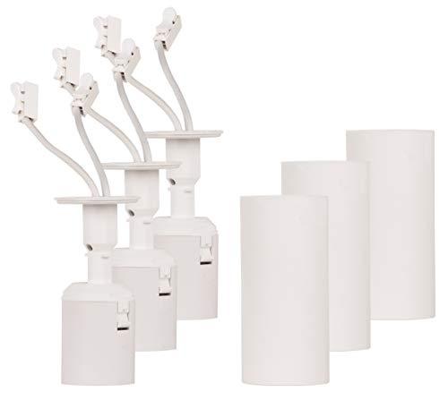 Müller-Licht Renolamp 3er Set - praktische Renovierfassung und herkömmliche Lampenfassung in Einem - optimale Lichtverhältnisse beim Renovieren, Designer-Leuchte im Anschluss - E27 Fassung Weiß