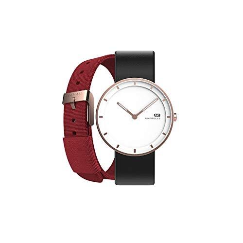 XXY Reloj De Pulsera Puntero Luminoso Relojes Resistentes Al Agua De Acero Inoxidable Relojes De Lujo Hombres Mujeres (Color : Gold)