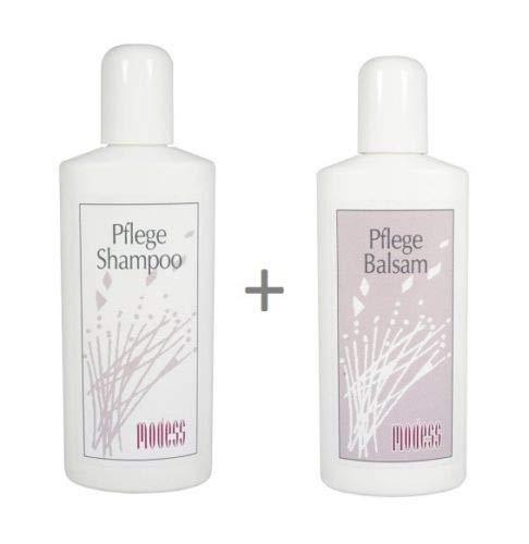 Conjunto de cuidado de pelucas Modess champú + bálsamo de 250 ml para pelo sintético y pelucas de pelo real, extensiones de cabello, sistemas de extensiones de pelo