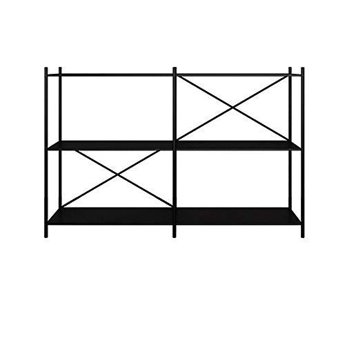 HAIZHEN Mesa de Sofá 3-Tier multifuncional Estanterías, hierro Estante de almacenamiento en rack, mesa de sala de consola de Baño Sala Cocina tiene capacidad for 200 lb, tabla del lado del sofá de 3 c