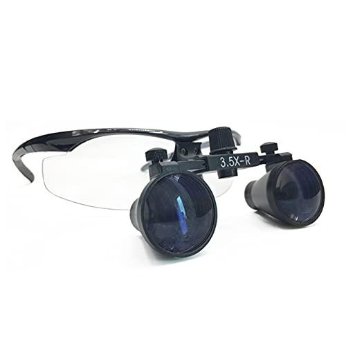 Lupa Binocular Dental Surgical Binocular 3.5 x 330 mm - 420 mm, Lupa montada en la Cabeza, Médico Quirúrgico Dental Gafas Lupas, para joyero quirúrgico Dental o pasatiempo
