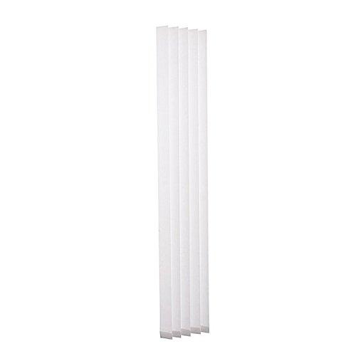 Ventanara 13 Lamellen einzeln weiß 89mm Ersatzlamellen für Lamellenvorhang Vertikaljalousie 180 cm