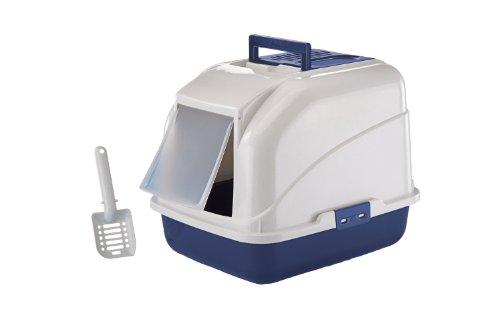 Nobby Maison de Toilette avec Filtre pour Chat Bleu 50 x 40 x 40 cm