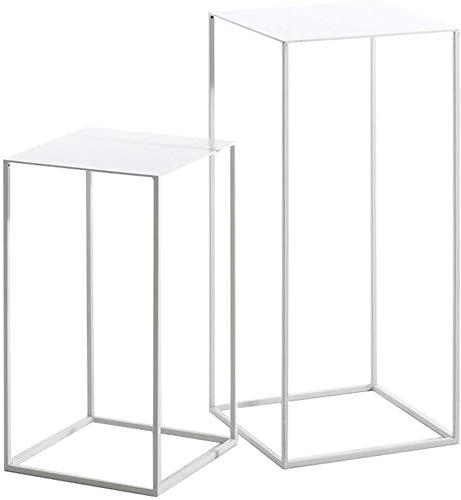 QTQZDD Perfect meubels slaapkamer combinatie tafel, ijzeren kunst rechthoekige woonkamer sofa bijzettafel hoekbank salontafel, 5474 cm, metaal 1 1