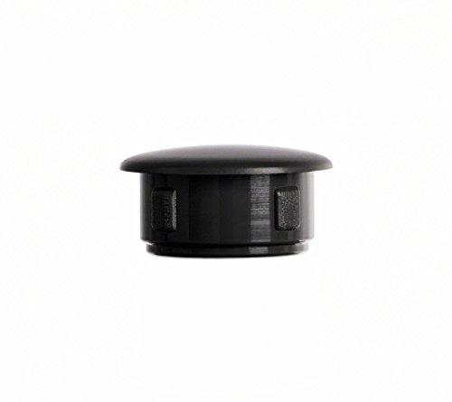Abdeckstopfen 20x17 mm Schwarz | 25 Stück | Blindstopfen Kunststoff Verschlusskappe