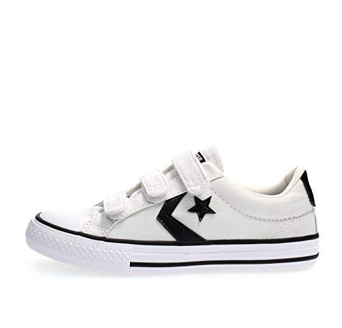 Converse Chuck Taylor All Star, Zapatillas Unisex Niños, Blanco (White/Black/White 000), 29 EU
