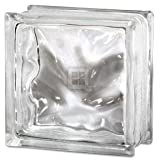 Quality Glass Block 8 x 8 x 4 Decora Wave Glass Block