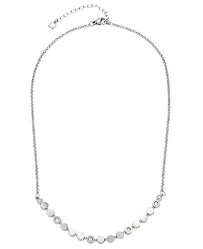 Jewels by Leonardo Damen-Halskette Dorelly, Edelstahl mit facettierten Kristallsteinchen, mit Karabinerverschluss, Länge 400 mm, 016786